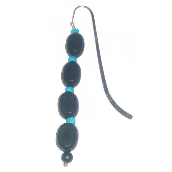 Black and Turquoise Bookmark