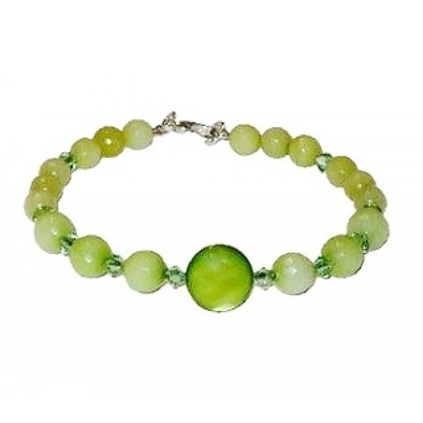 Light Apple, Peridot and Olive Green Bracelet