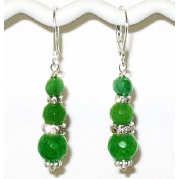 Green Jade and Freshwater Pearl Bridesmaid Earrings