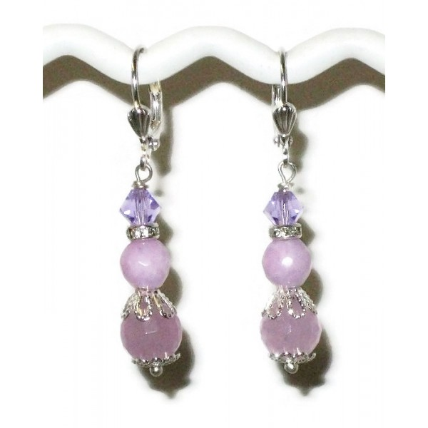 Lilac Jade Bridesmaid Earrings