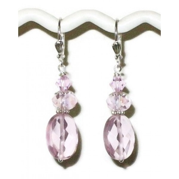 Light Pink Bridesmaid Earrings