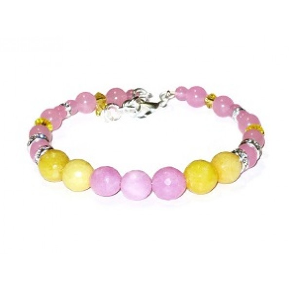 Pink and Yellow Bridesmaid Bracelet