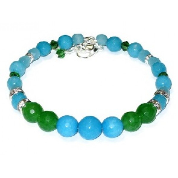 Turquoise and Green Semi-Precious Bridesmaid Bracelet