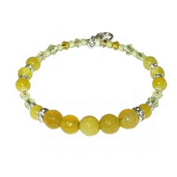 Yellow Semi-Precious Bridesmaid Bracelet