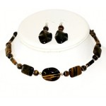 Tiger Eye Choker and Earring Set