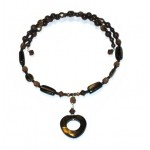 Brown Choker with Heart Pendant