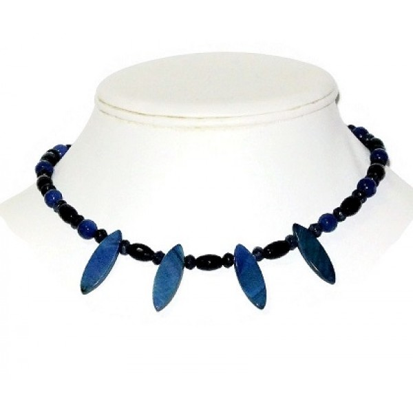 Navy and Indigo Blue Choker