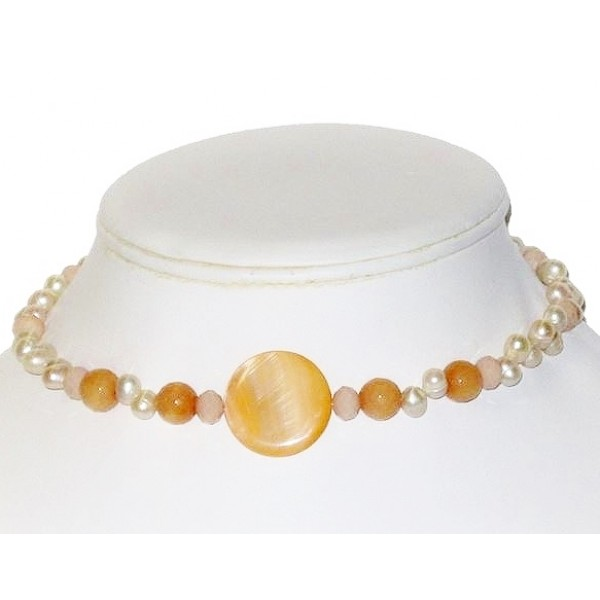 Peach and Ivory Choker