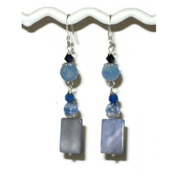 Blue Blend Dangle Earrings