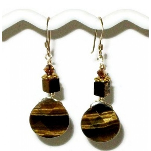 Tiger Eye Briolette Earrings