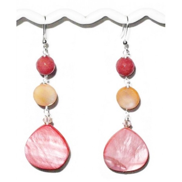 Coral and Peach Earrings