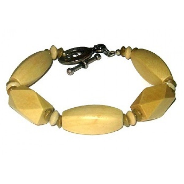 Khaki and Beige Men's Bracelet