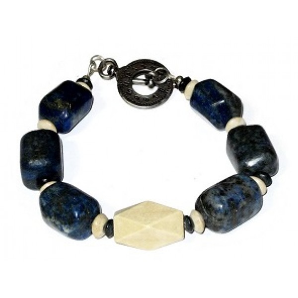 Blue and Beige Men's Bracelet