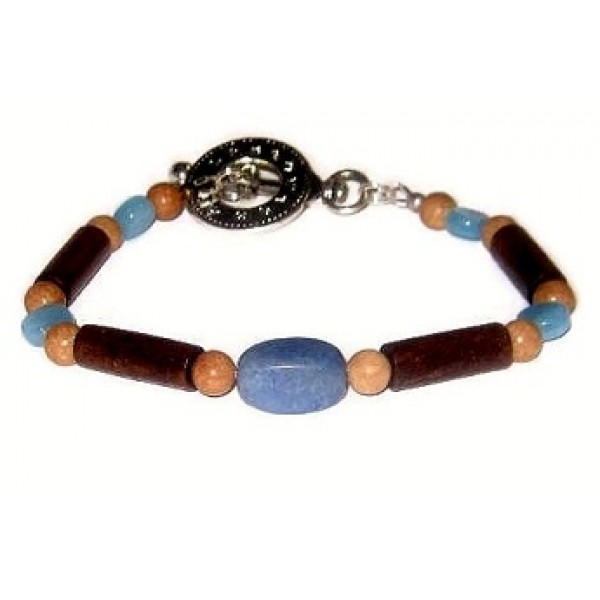 Denim Blue, Tan and Brown Men's Bracelet