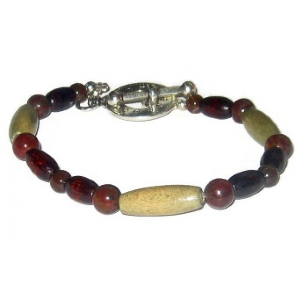 Olive Green,  Dark Brown and Burgundy Men's Bracelet