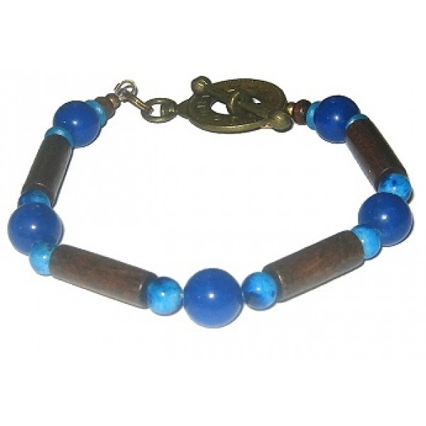 Brown and Blue Men's Bracelet