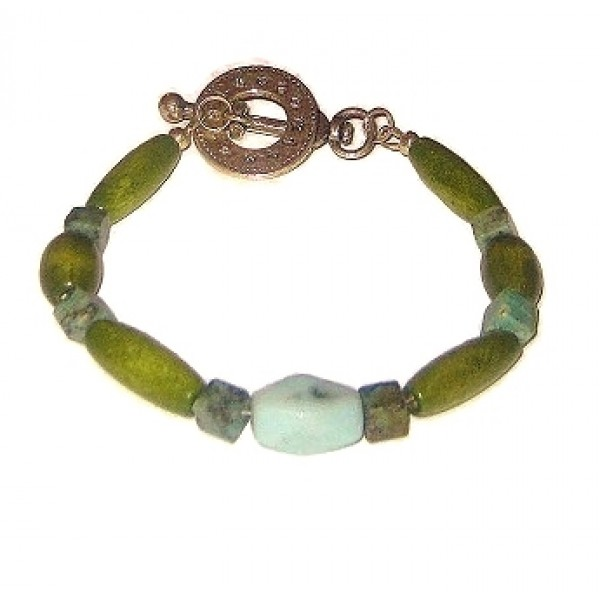 Olive and Mint Green Men's Bracelet