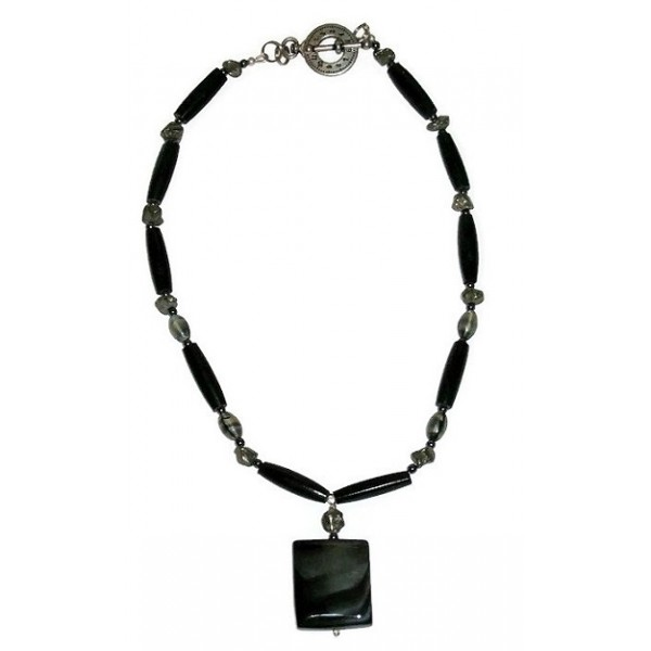 Black and Grey Men's Necklace