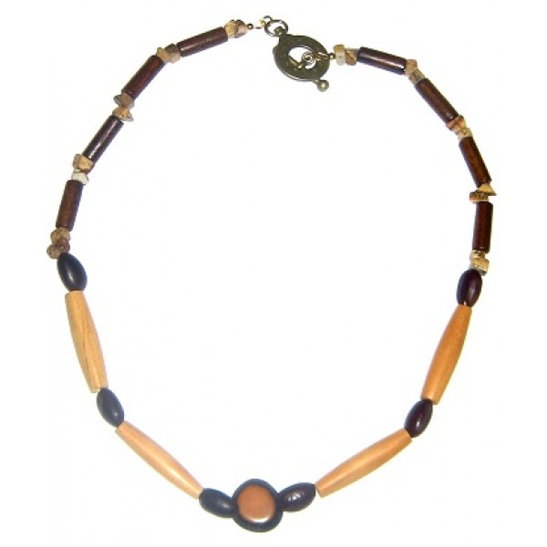 Tan and Dark Brown Men's Necklace