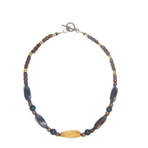 Brown, Black and Beige Men's Necklace