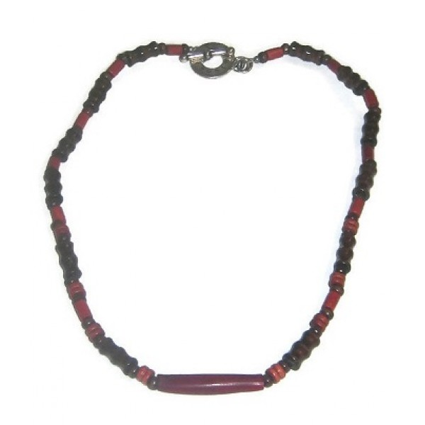 Brown, Burgundy and Rust-Colored Men's Necklace