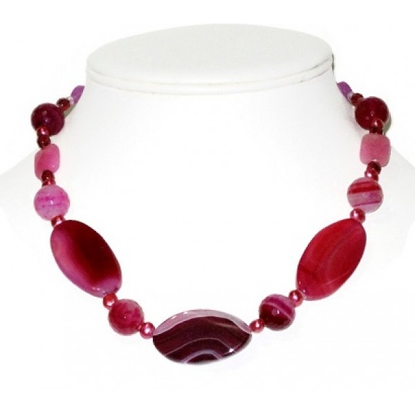 Fuchsia Sardonyx Necklace