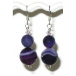 Purple Sardonyx Necklace and Earring Set