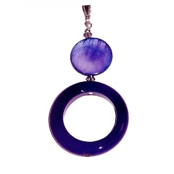 Purple Jade and Mother-of-Pearl Pendant