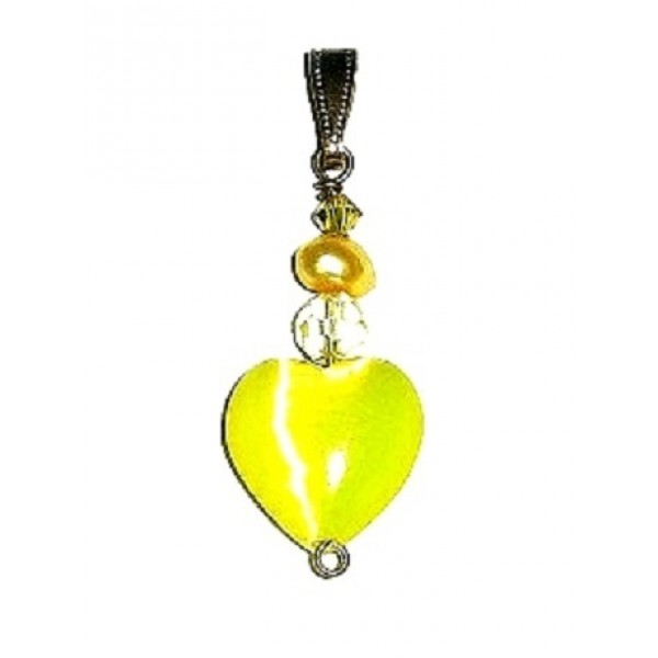 Yellow Heart Pendant