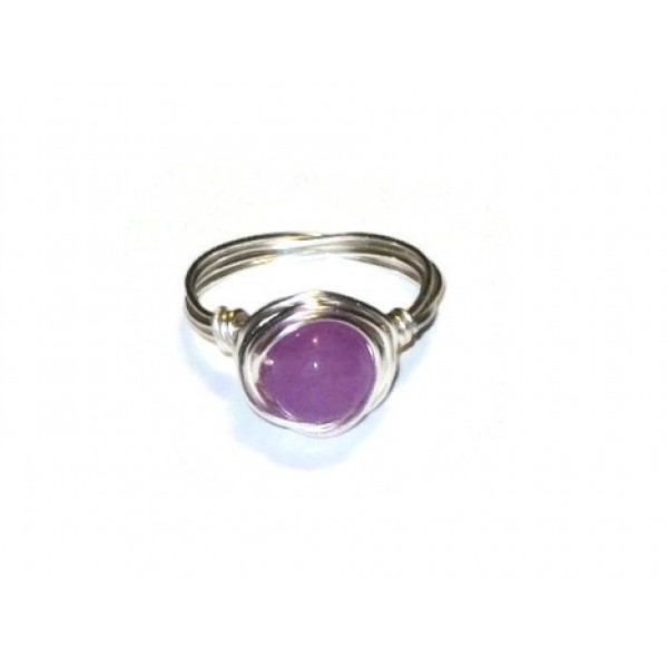 Orchid Jade Wire-Wrapped Ring